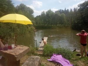Koupel v rybníku